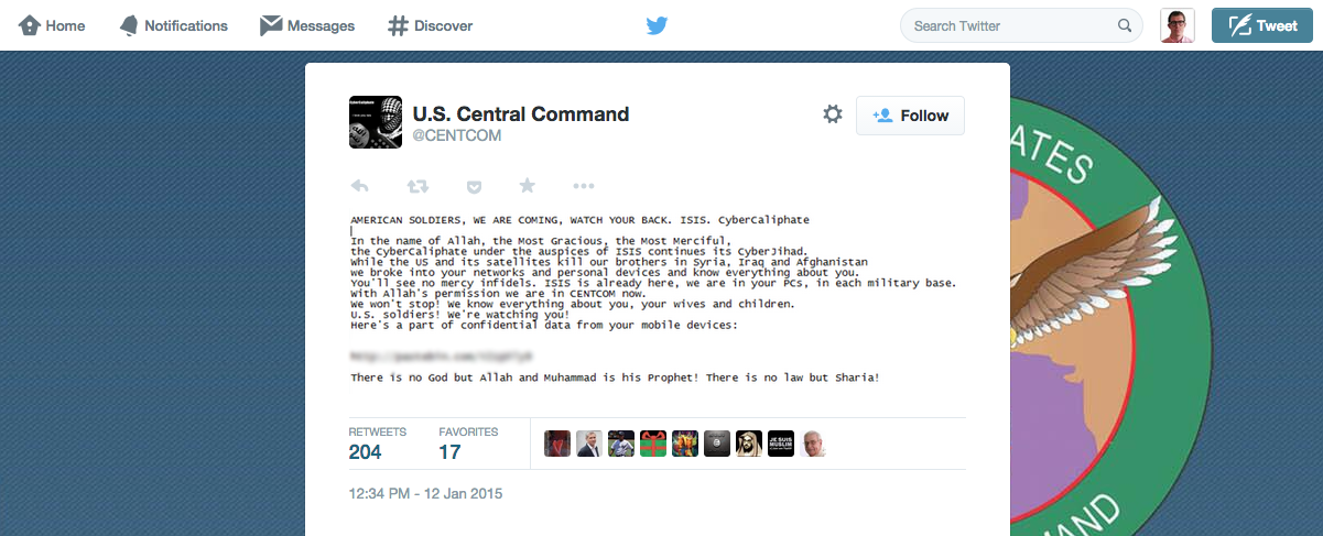 Someone Claiming to Be ISIS Says They Hacked CENTCOM, Leaks Docs Online