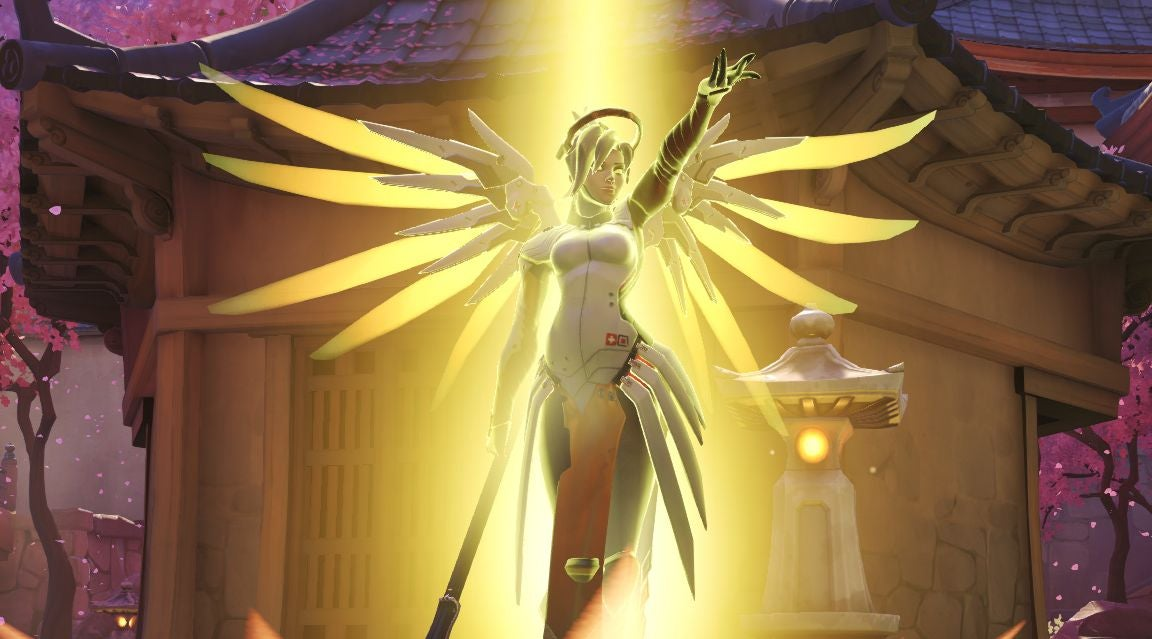 Overwatch Players Are Recreating Mercy's Old Ultimate In The Game's Workshop