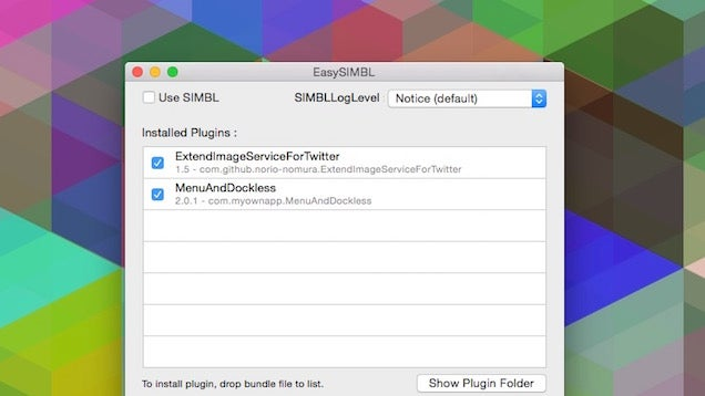 EasySIMBL Customises Your Mac with Powerful Plugins