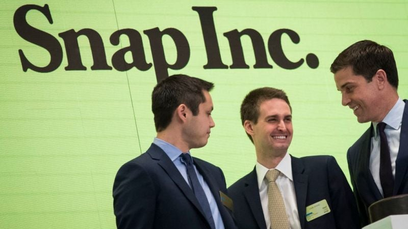 Snapchat Debuts New Disappearing Stock Price