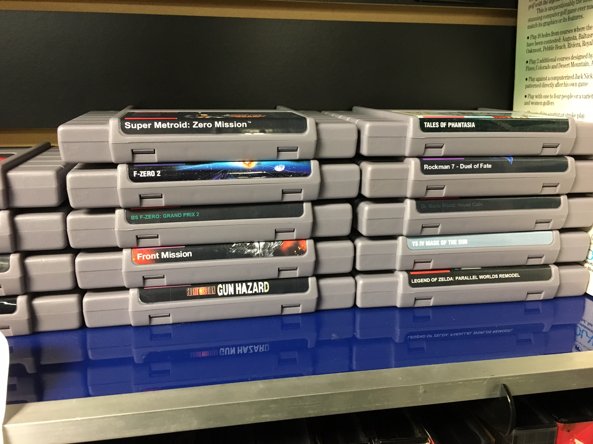 Super Metroid: Zero Mission And Other Neat SNES Repro Carts
