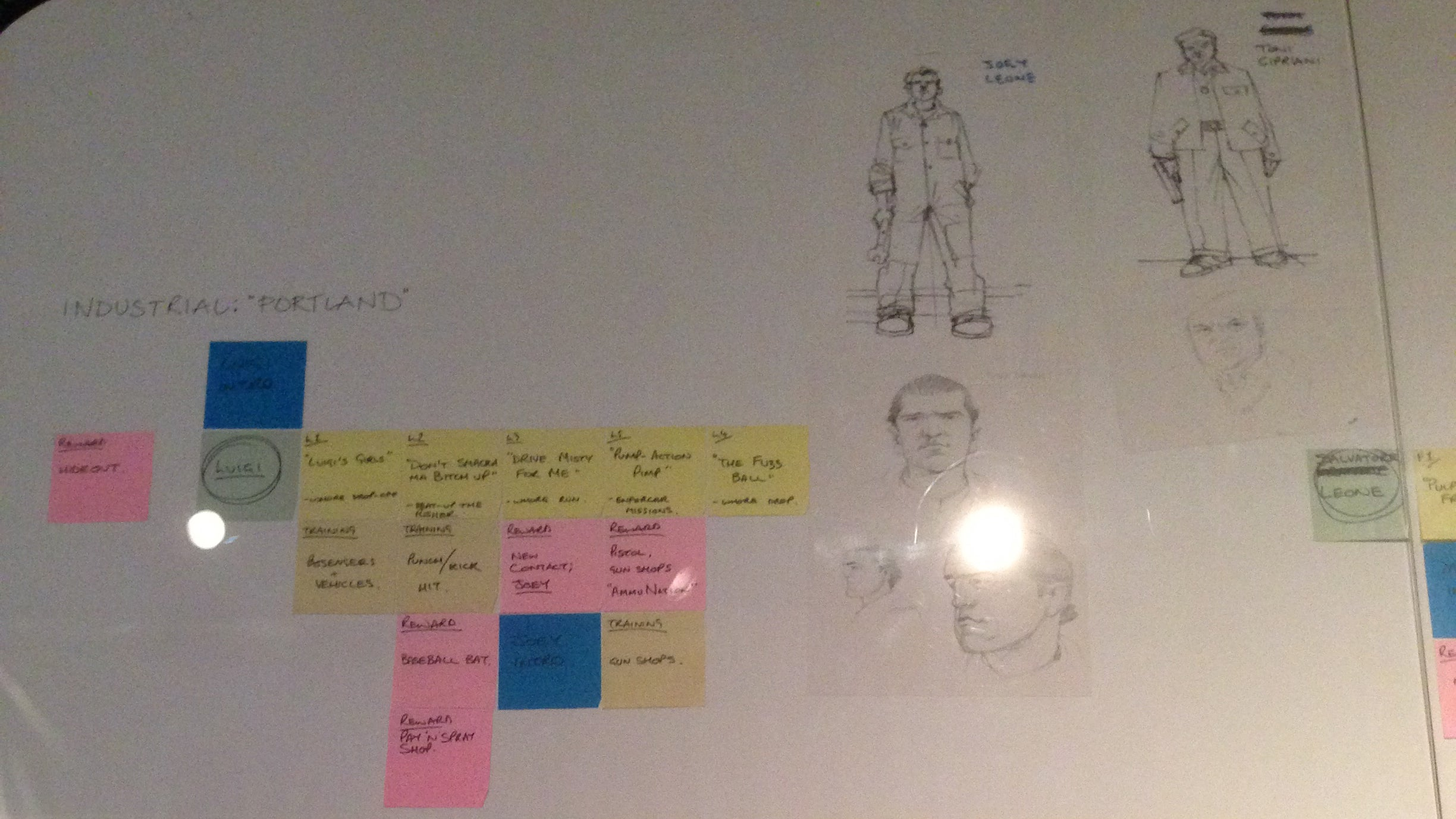 What Grand Theft Auto III Looked Like on the Drawing Board