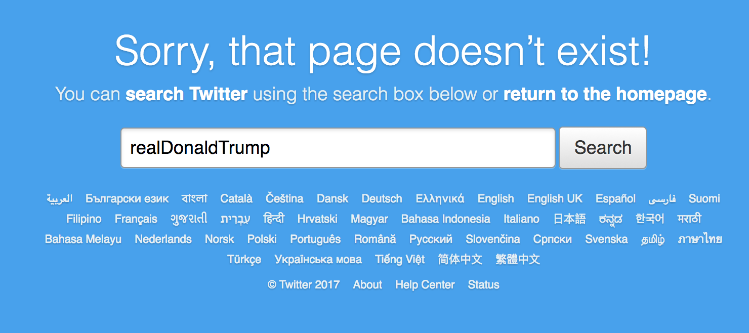 Donald Trump's Personal Twitter Account Vanished For Eleven Beautiful Minutes [Updated]