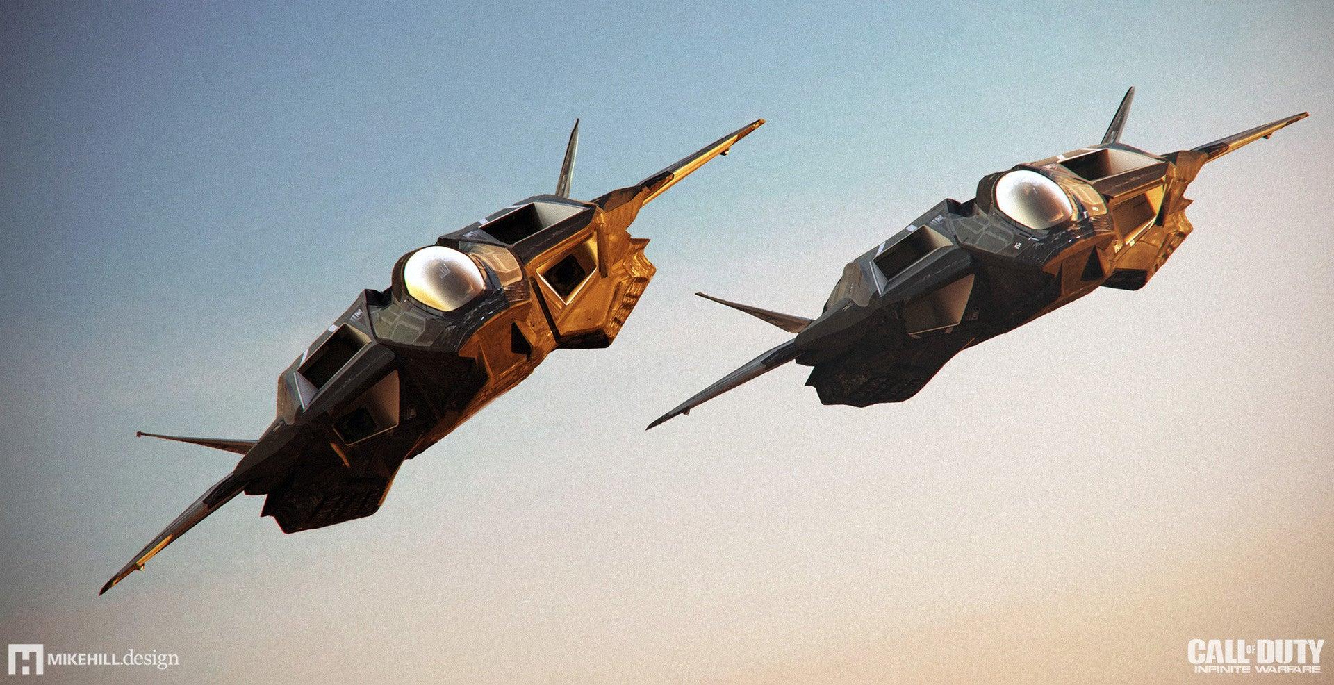 fine art infinite warfare has some very cool spaceships