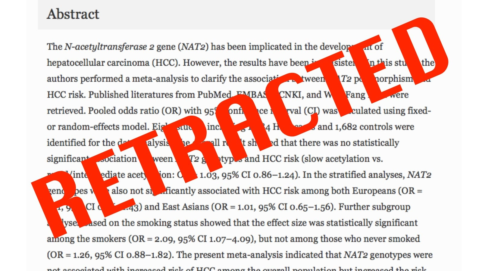 Report: Cancer Journal Retracts A Record Hundred And Seven Studies
