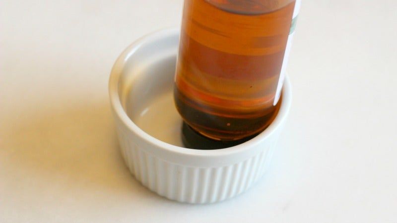 Store Honey And Other Sticky Bottles In A Ramekin