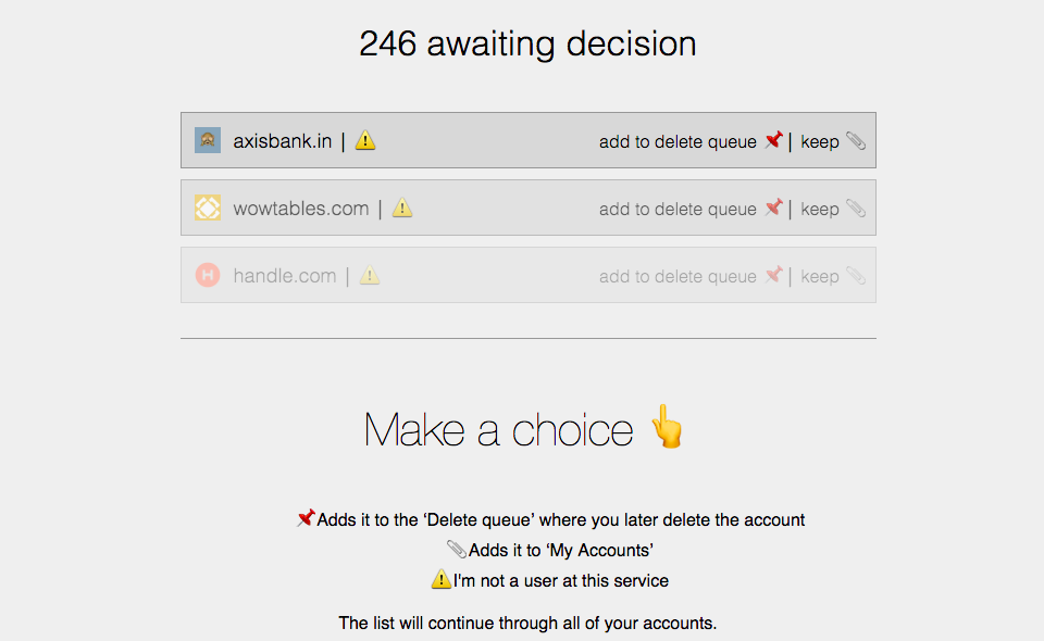 Deseat me Finds And Helps You Delete Random Accounts You've Signed