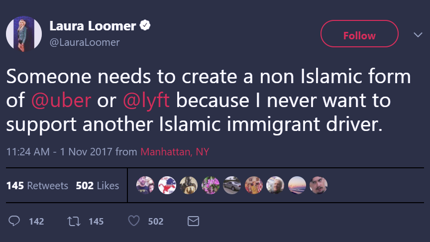 Far-Right Twitter Personality Laura Loomer Banned From Uber, Lyft For Racist Tweets [Updated]