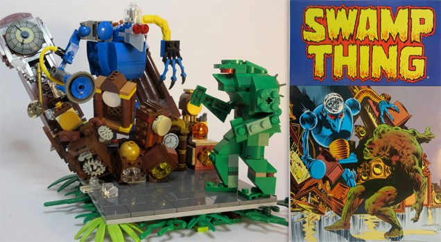 Classic Comic Book Covers Rebuilt With LEGO