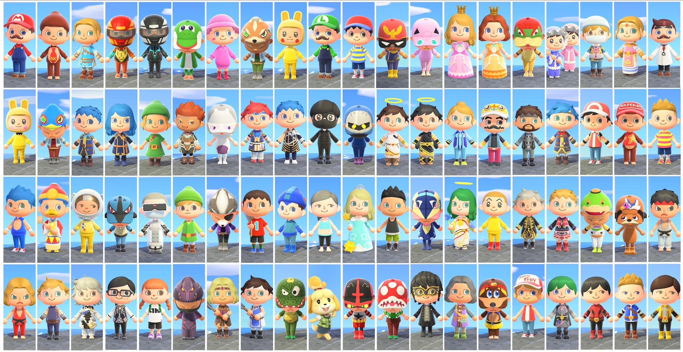 Hero Creates The Entire Smash Bros. Ultimate Roster In Animal Crossing: New Horizons