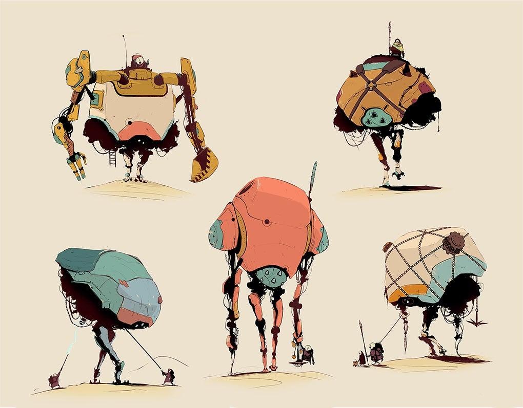 Character Design Jobs Australia : Fine art nice paint job robots kotaku australia
