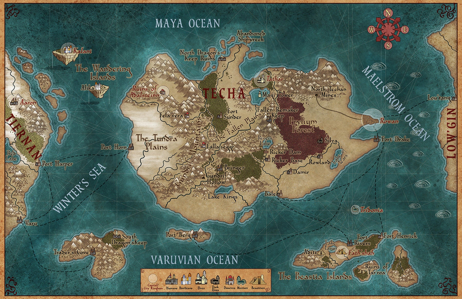 Beautiful Maps Of Fake Places