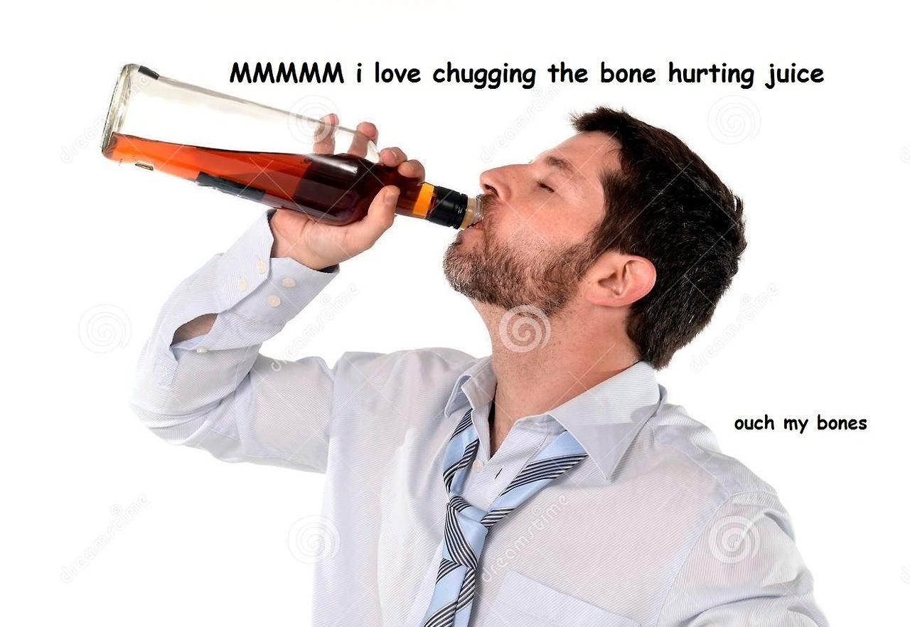 Take A Big Sip Of The New Bone Hurting Juice Meme