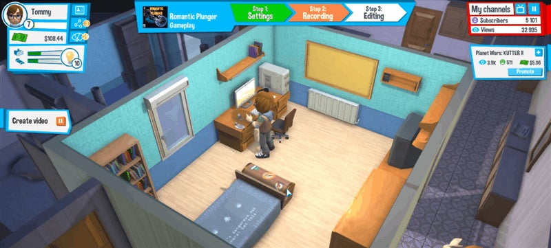 There's A Sim Game Just About YouTubers