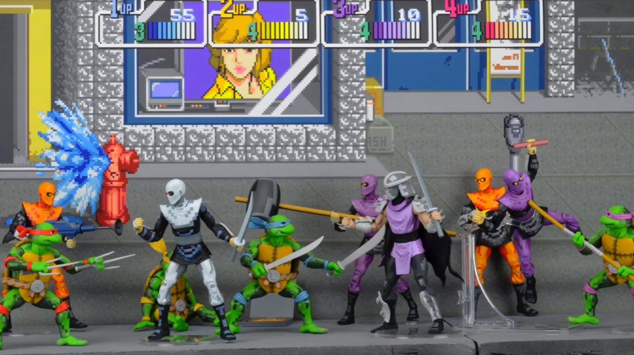 TMNT Figures Based On Konami's Classic 1989 Arcade Game