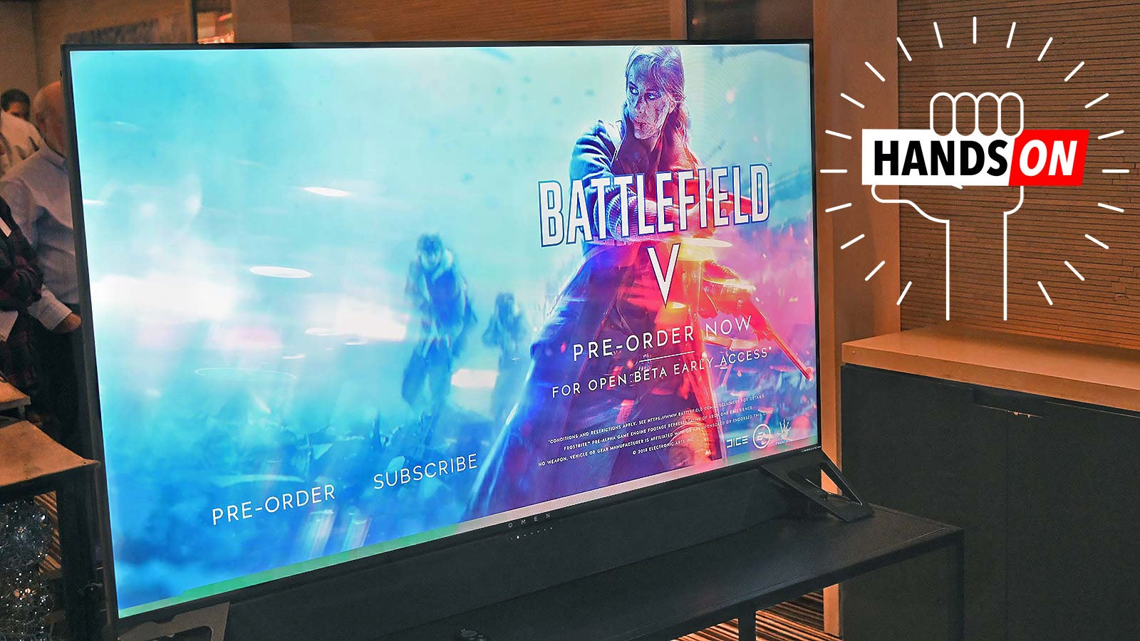 HP's 65-inch HDR Gaming Monitor With G-Sync Looks Spectacular