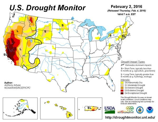 El Niño Just Pushed America to Its Lowest Level of Drought in Six Years