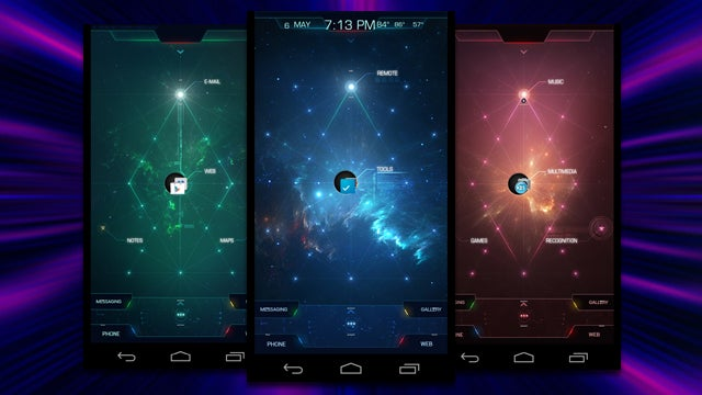 The Space Android Home Screen