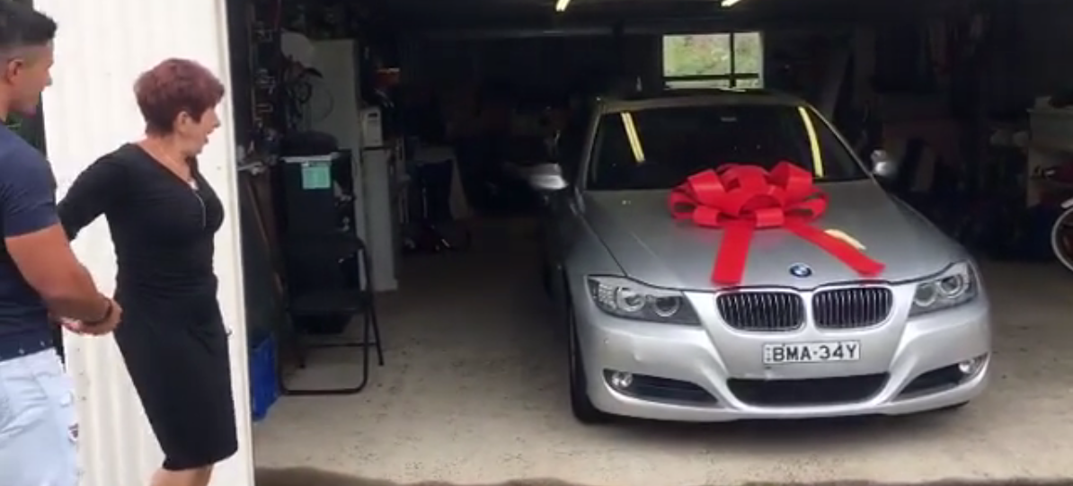 Aussie Brothers Save Up For Years To Buy Mum Her Dream BMW For Christmas