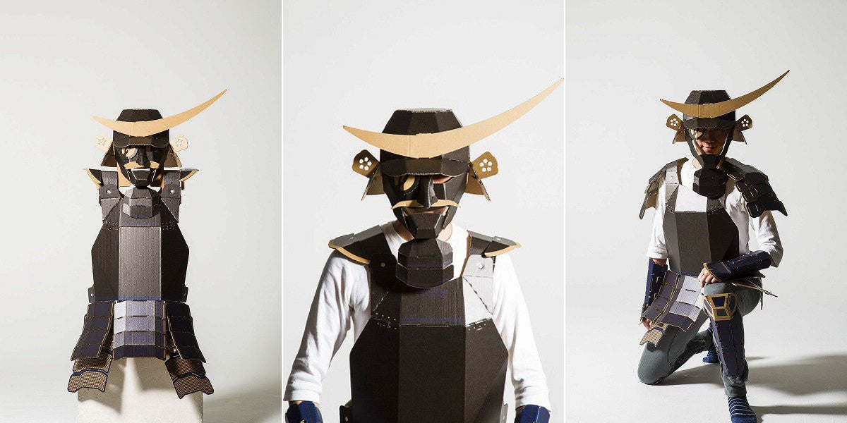 Cardboard Samurai Armour Now for Adults & Cardboard Samurai Armour Now For Adults | Kotaku Australia