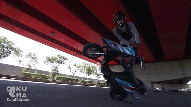 These Stunt Tricks on a Moped Are Totally Crazy