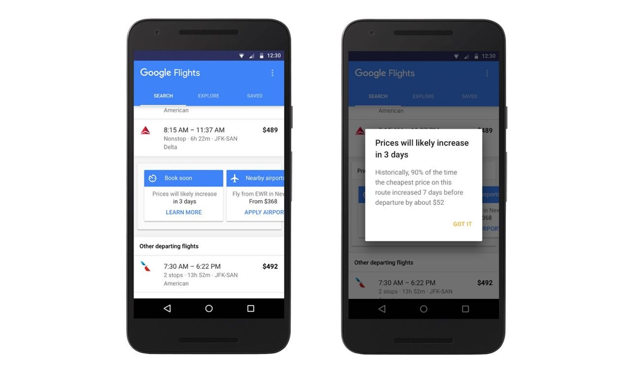 Google Now Tells You The Best Time To Book Your Flight