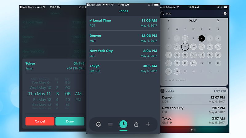 Zones Provides Easy Time Zone Conversion On The IPhone