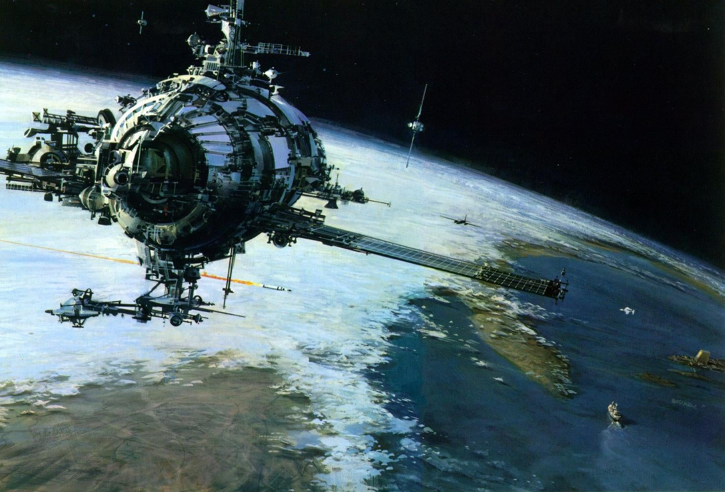 The beautiful space art of John Berkey