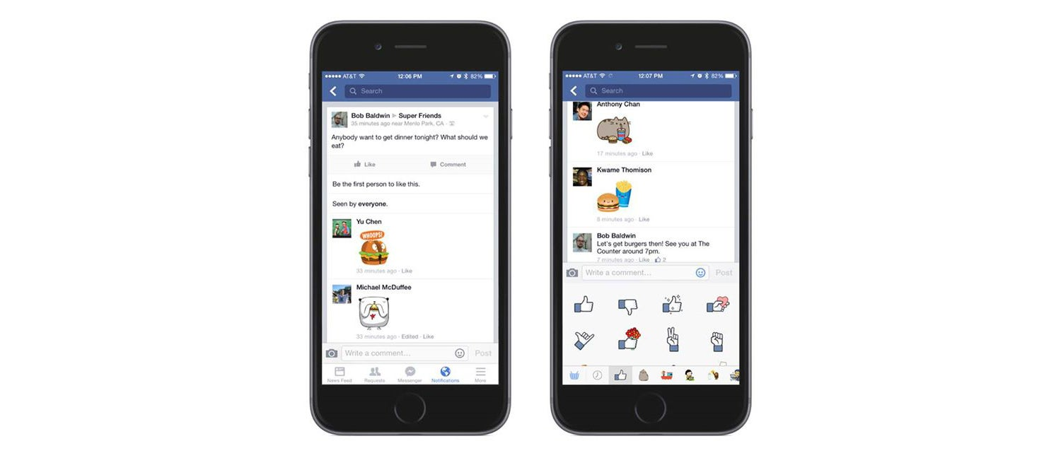Facebook Now Lets You Put Stickers in Comments Because Words Are Dead