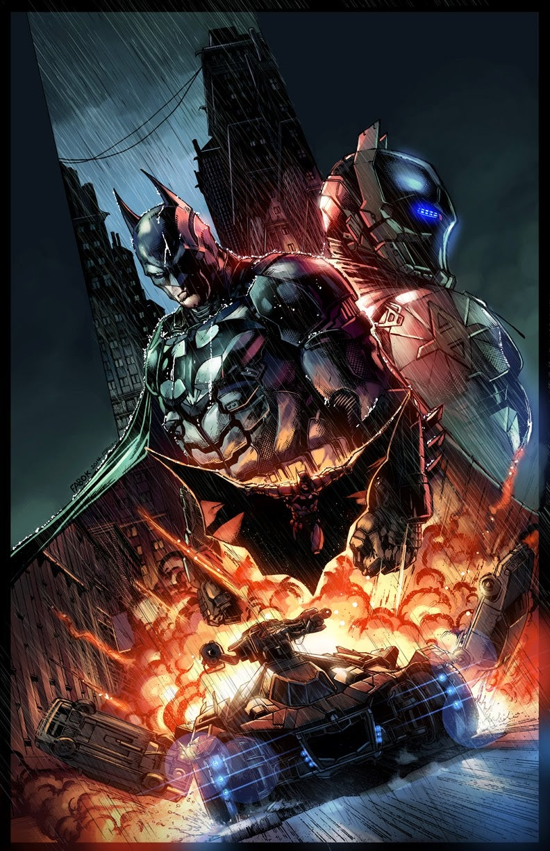 Arkham Knight Comic Book Cover By Jason Fabok And Emilio Lopez