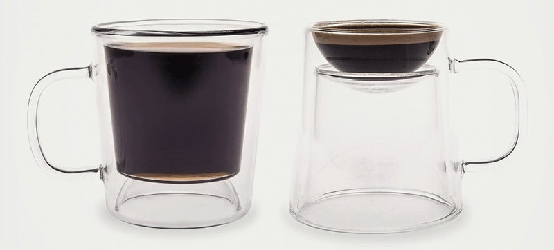 A Double-Duty Flippable Mug Holds Coffee Or Espresso