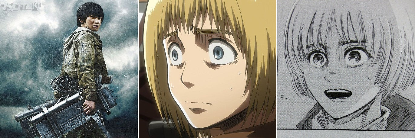 Attack on Titan Movie Stars Versus the Anime and Manga Characters