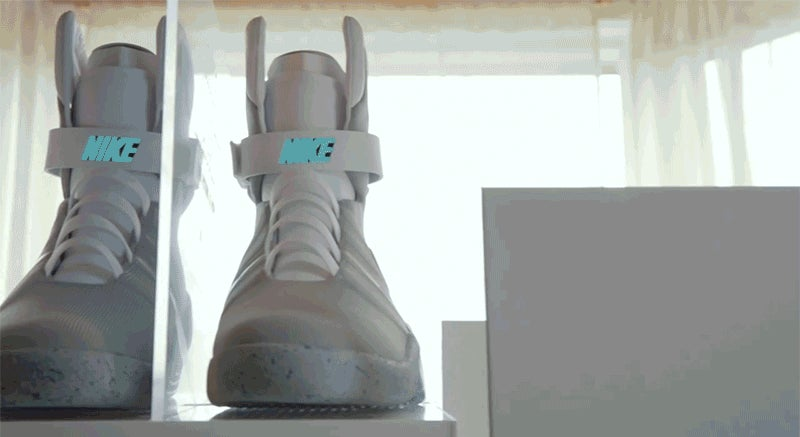 56856e4b056d Video  If you re still heartbroken about not winning a pair of the Nike Mag  self-lacing sneakers
