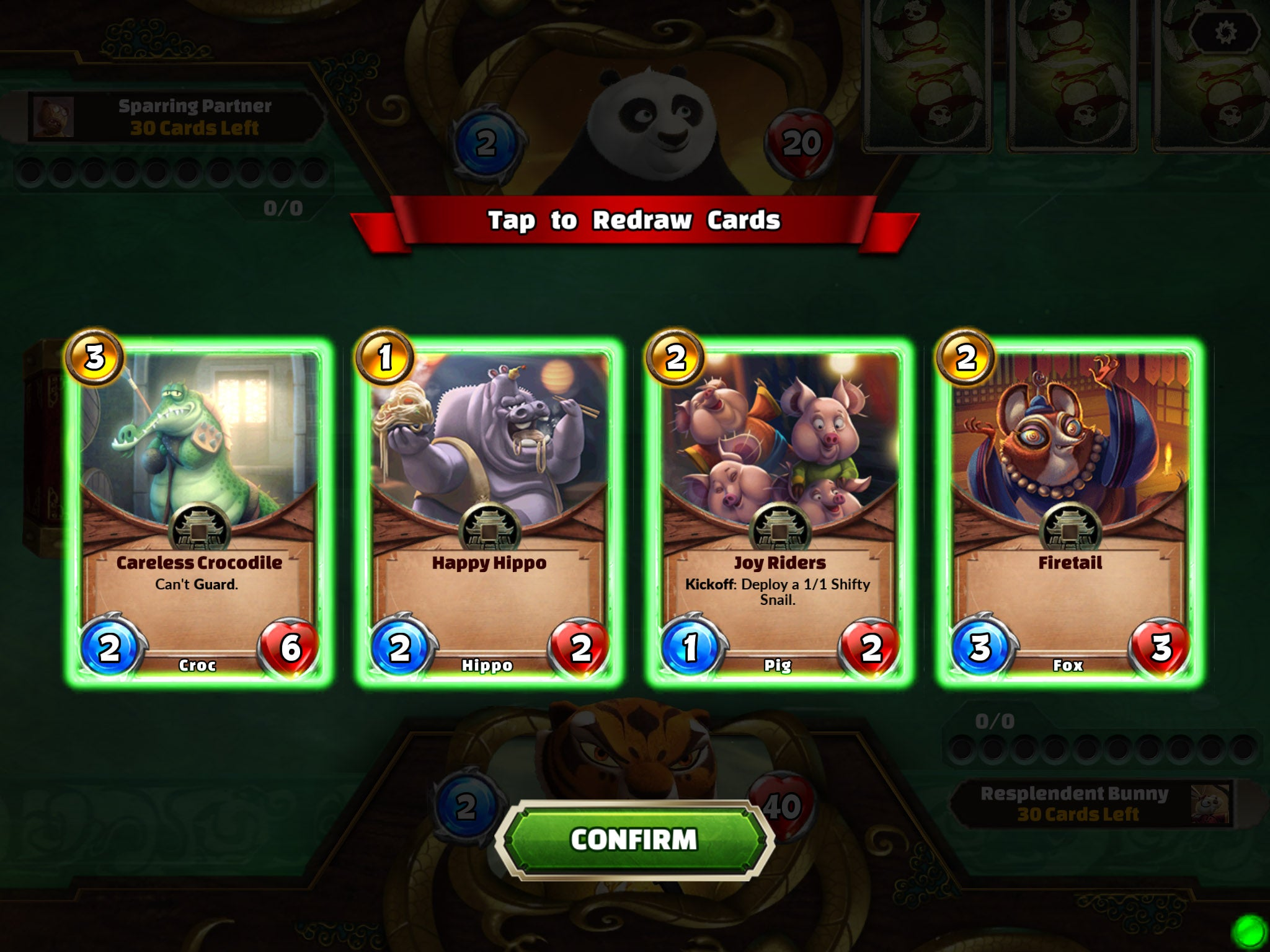It's Hearthstone, Only With Kung Fu Panda