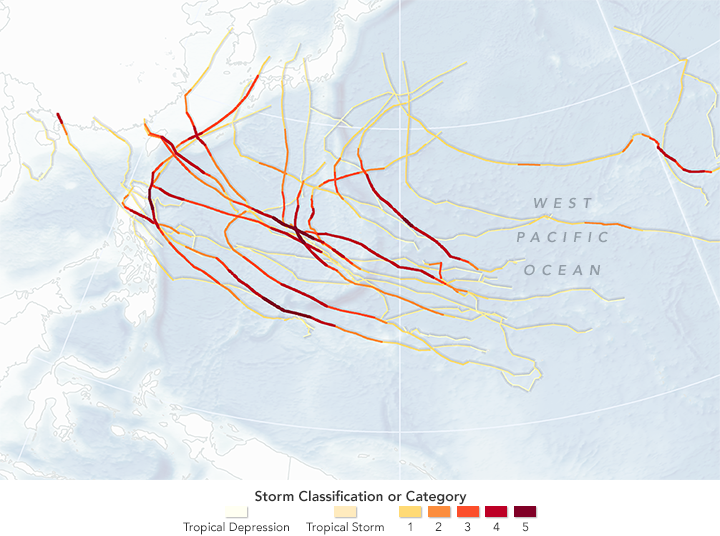 NASA Maps Show Just How Crazy The Storm Season Was in the Pacific