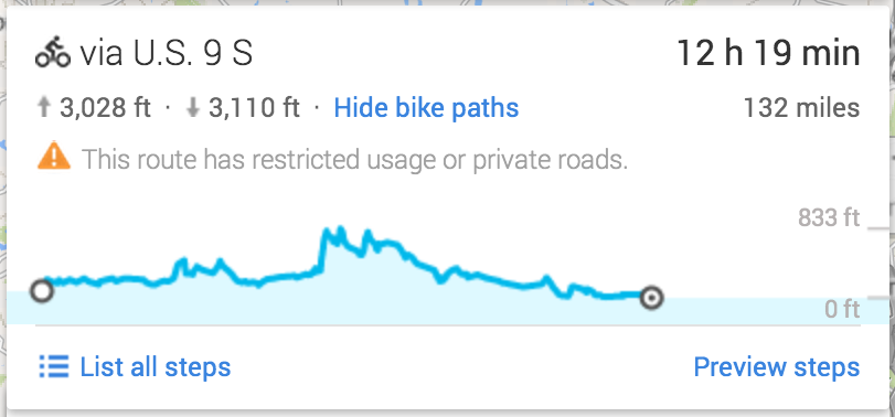 how to create a bike route in google maps