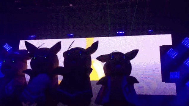 Pikachus with Lasers Shooting from Their Eyes
