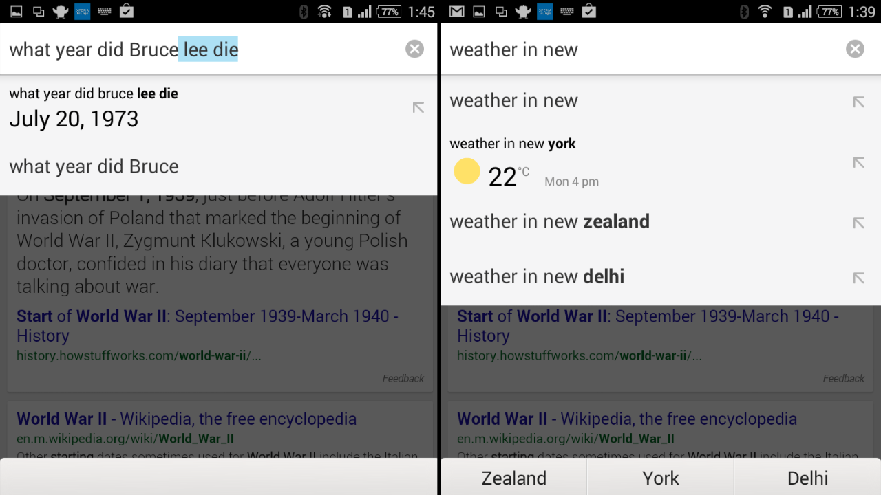 Tweak Chrome for Android to Answer Questions in the Suggestions Box