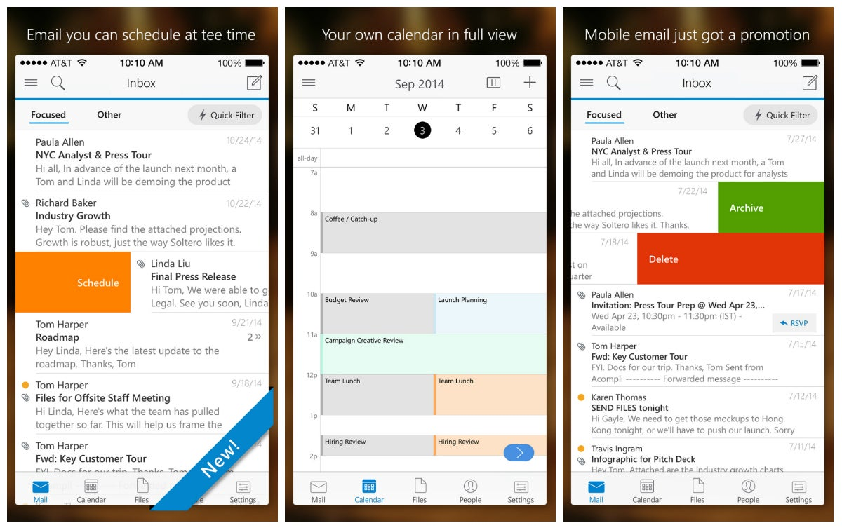 Microsoft Outlook For iOS And Android Also Plays Nice With Gmail, Yahoo And Dropbox