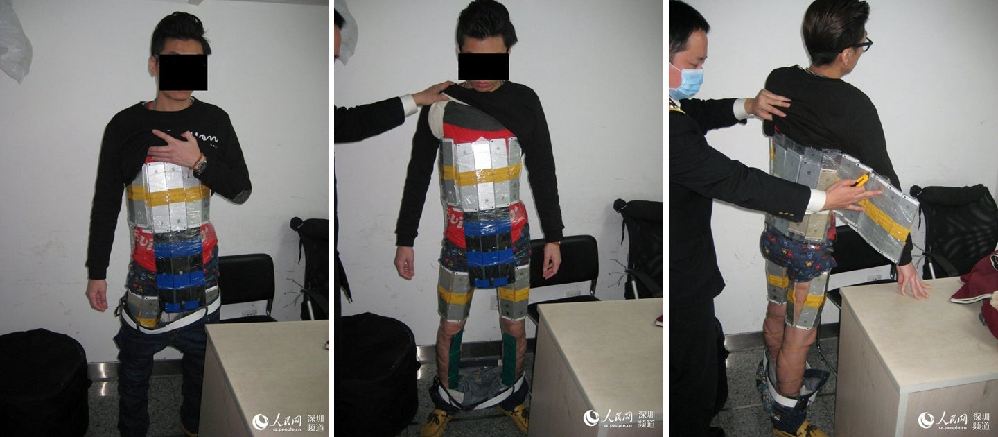 How Not To Smuggle 94 iPhones Through Chinese Customs