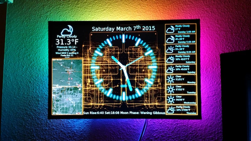 Use A Raspberry Pi To Power A Fancy Clock And Display