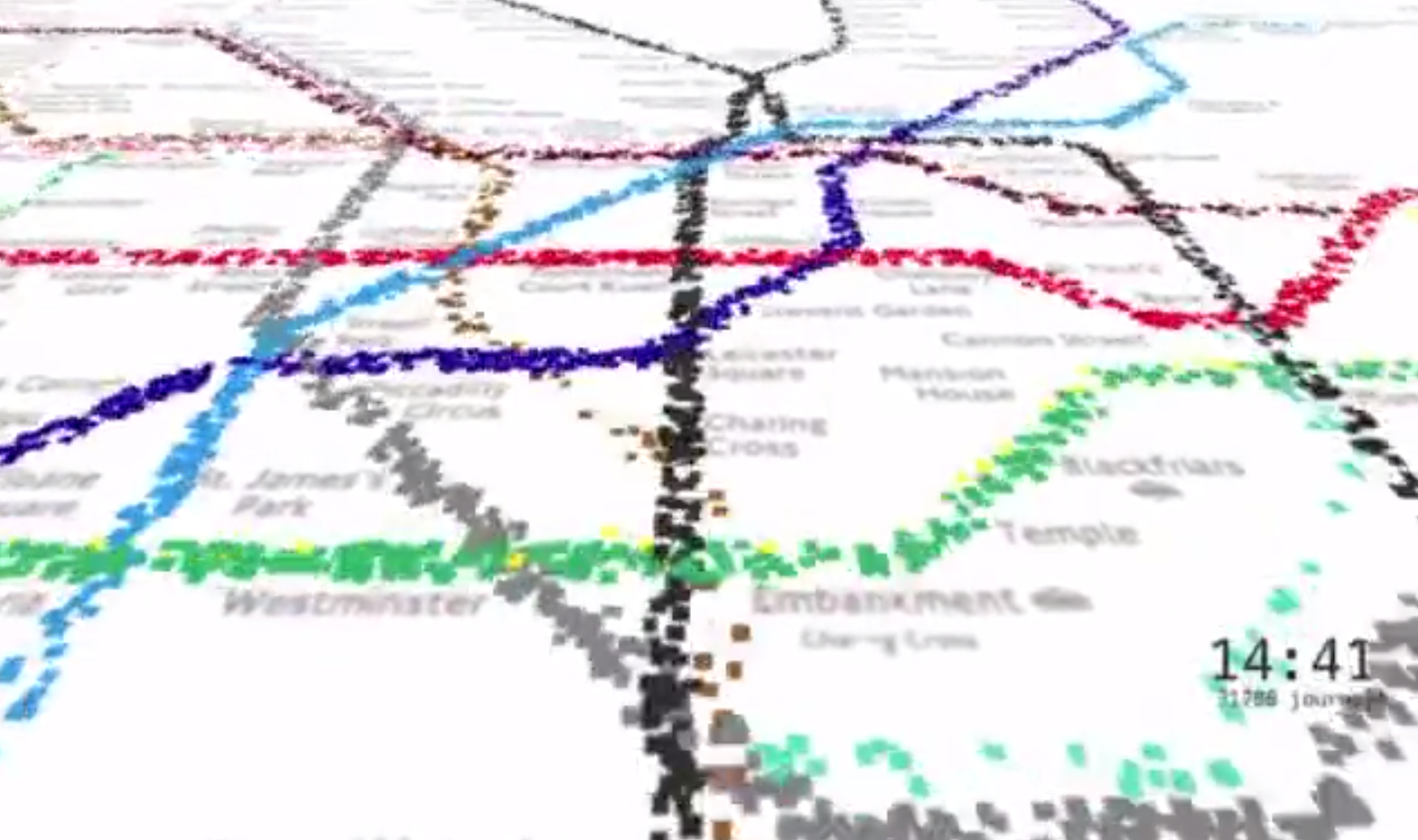 Watch a Single Day on the London Tube in Two Minutes