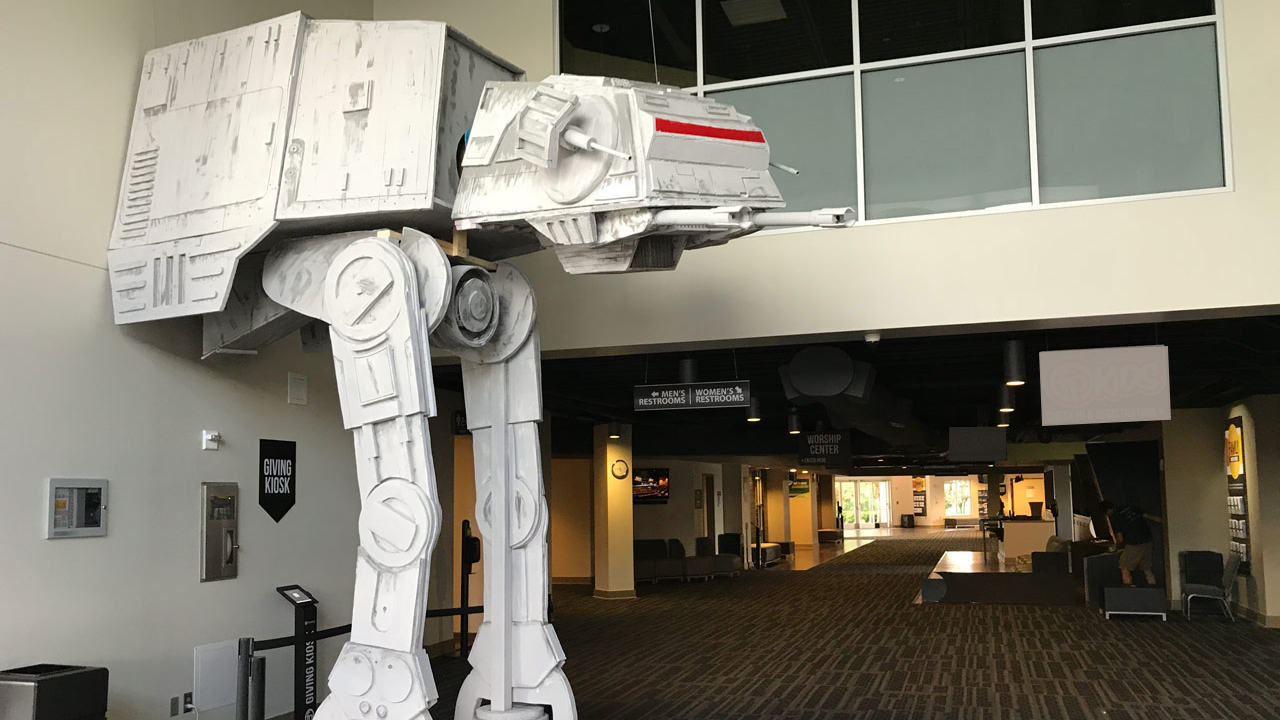 Check Out This 5.18m-Tall AT-AT Replica