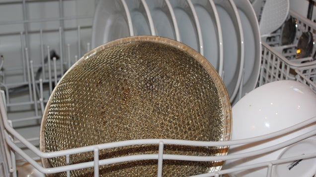 Dirty Exhaust Hood ~ Clean stove hood filters in the dishwasher weekly to keep