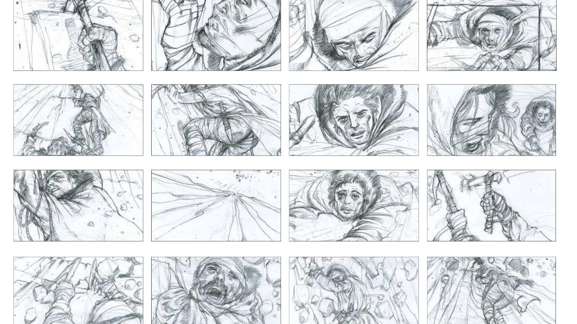 Exclusive: Watch Game Of Thrones' Ice Wall Climb Come To Life In Storyboard Form