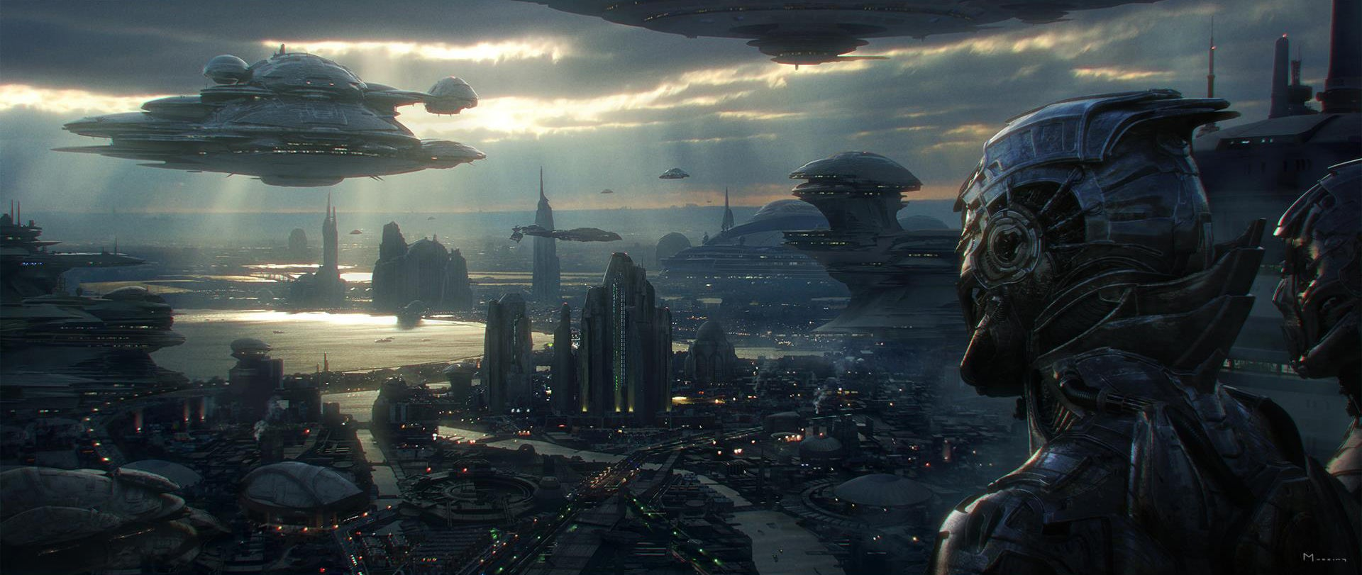 The magnificent science fiction art of steven messing for Architecture fantastique