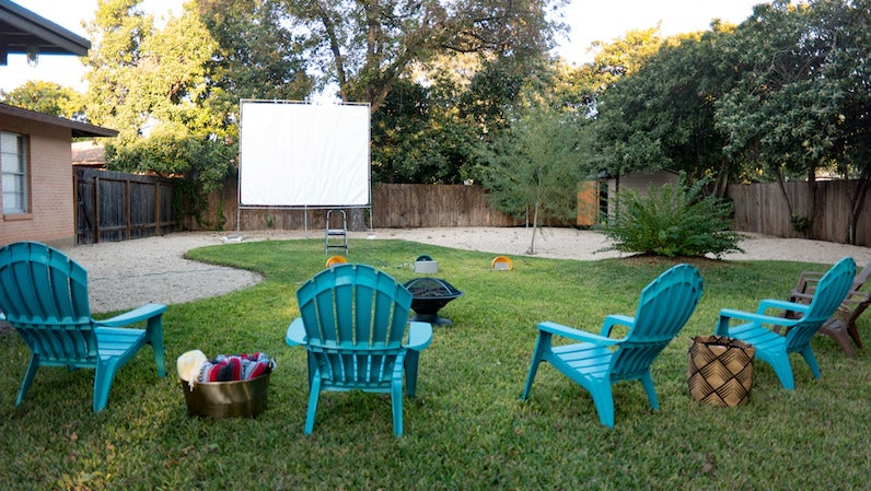 Build Your Own Movie Screen for Summer Backyard Parties