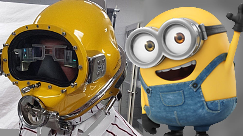 The US Navy's Futuristic New Diving Helmet Turns Sailors Into Minions