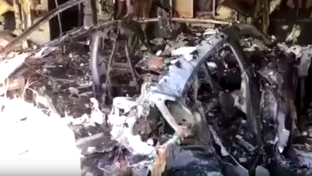 An Electric Porsche Taycan Caught Fire In A Florida Garage And The Aftermath Looks Brutal