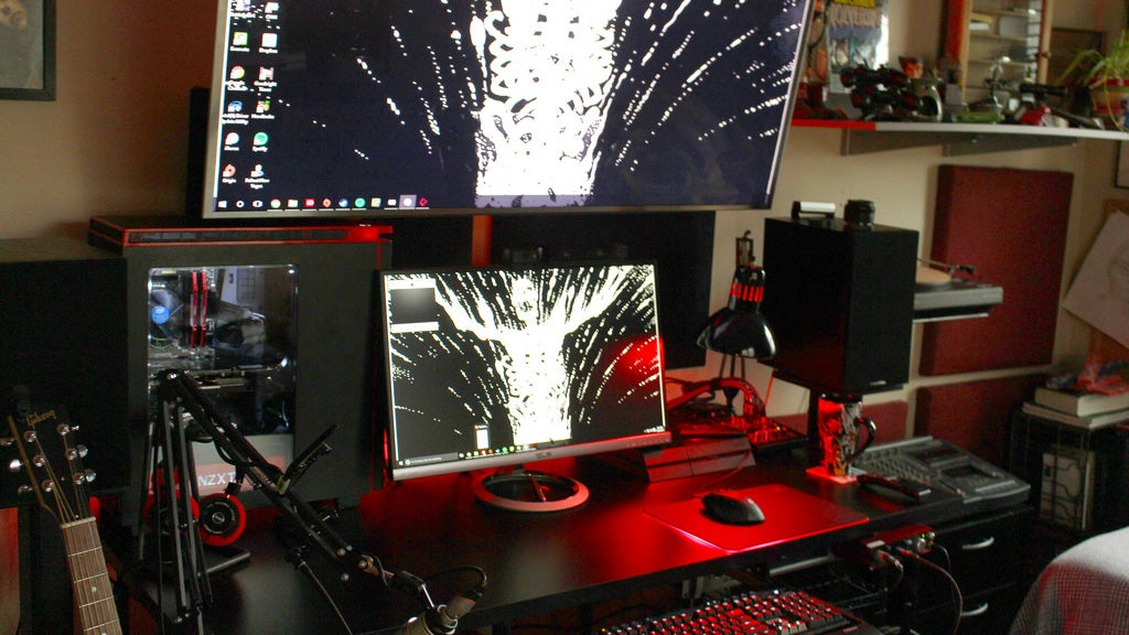 The Red and Black Gamer Workspace